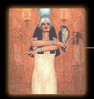This is the Magician Card for the Goddess Tarot, and the magician is Isis.